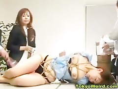 japanese office hotty humiliated and spanked